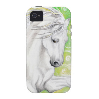 Andalusian Horse Green Case-Mate iPhone 4 Case