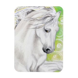 Andalusian Horse Green Magnet