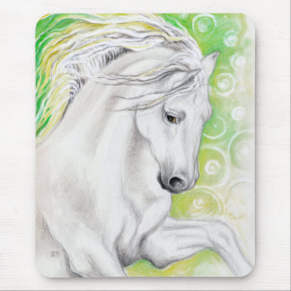 Andalusian Horse Green Mouse Pad