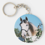 ANDALUSIAN HORSE HEAD KEYCHAIN