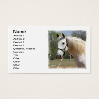 ANDALUSIAN HORSE HEAD MORISCO BUSINESS CARD