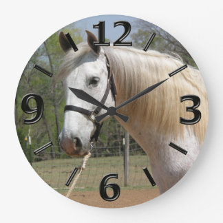 ANDALUSIAN HORSE HEAD MORISCO LARGE CLOCK
