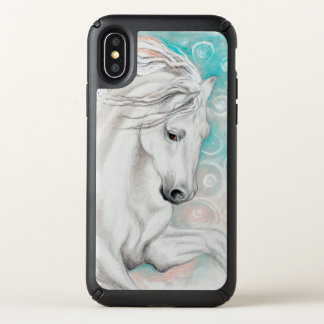 Andalusian Horse In Blue Speck iPhone X Case