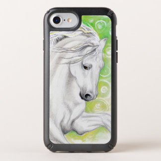 Andalusian Horse In Green Speck iPhone Case