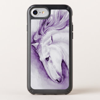 Andalusian Horse In Purple Speck iPhone Case