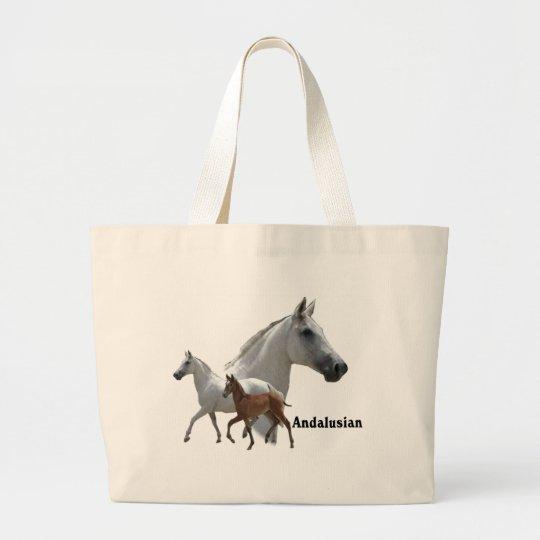 Andalusian Horse Large Tote Bag