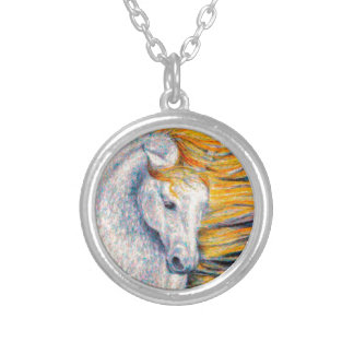 Andalusian Horse Personalized Necklace