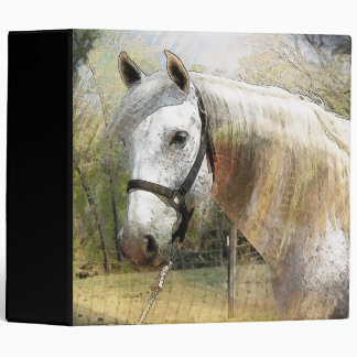 ANDALUSIAN HORSE PORTRAIT 3 RING BINDER