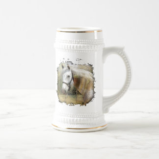 ANDALUSIAN HORSE PORTRAIT 18 OZ BEER STEIN
