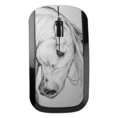 Andalusian Horse Portrait Wireless Mouse at Zazzle