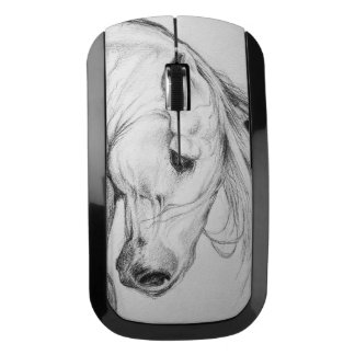 Andalusian Horse Portrait Wireless Mouse