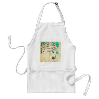 Andalusian In Bluelines block Adult Apron