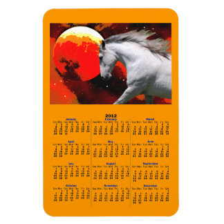 ANDALUSIAN IN FIERY SPACE 2012 Calendar Magnet Vinyl Magnet