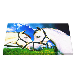ANDALUSIAN KISS Wrapped Canvas Print
