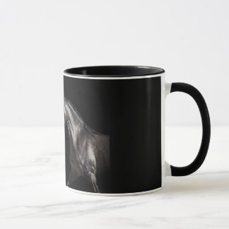 andalusian stallion at black background mug