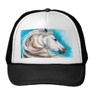 Andalusian Stallion Horse Mesh Hats