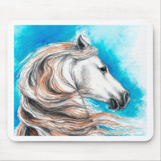 Andalusian Stallion Horse Mouse Pad