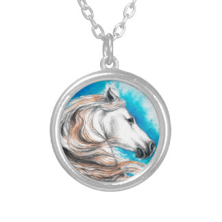 Andalusian Stallion Horse Personalized Necklace