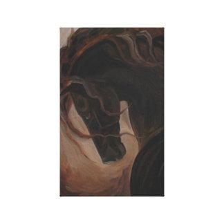 Andaluz oscuro, andaluces, arte del caballo, españ impresión de lienzo