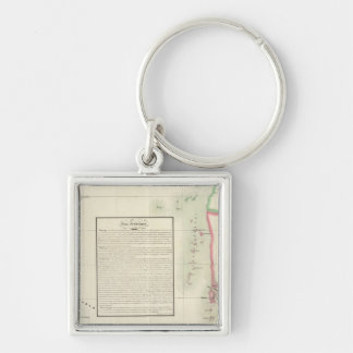 Andaman Islands, Asia 109 Silver-Colored Square Keychain