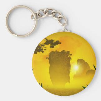 Andaman Sea Basic Round Button Keychain