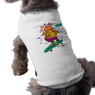 Andan en monopatín los 8vos regalos de cumpleaños playera sin mangas para perro