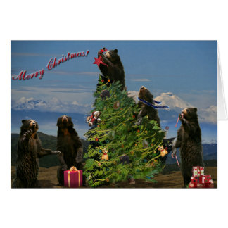 Andean Bear Christmas 2011 Greeting Card