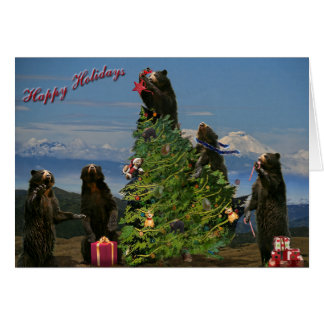 Andean Bear Holiday 2011 Greeting Card