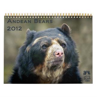 Andean Bears 2012 - 15 month calendar
