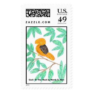 Andean CockOfTheRock (Rupicola peruvianus) Stamp