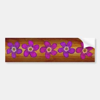 Andean Flowers II Etiqueta De Parachoque