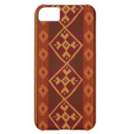 Andean Inspired Rust Red Pattern iPhone 5C Cases