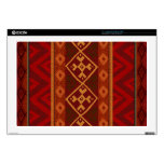 Andean Inspired Rust Red Pattern Laptop Decals