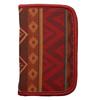 Andean Inspired Rust Red Pattern Planners