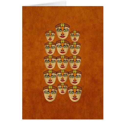 Andean Mask Greeting Cards