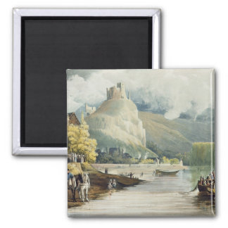 Andely, from 'Views on the Seine', engraved by Tho 2 Inch Square Magnet