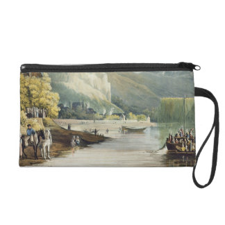 Andely, from 'Views on the Seine', engraved by Tho Wristlet Purse