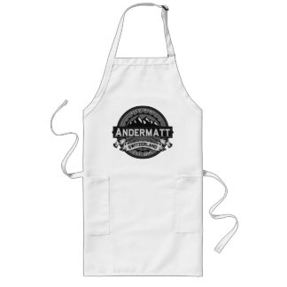 Andermatt Logo Grey Long Apron