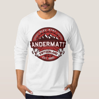 Andermatt Logo Red T-Shirt