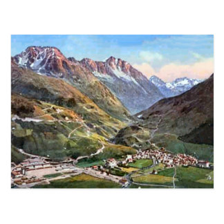 Andermatt, St Gotthard 1924 Postcard