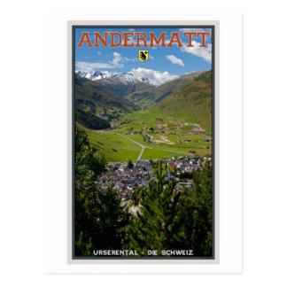 Andermatt, Switzerland Postcard