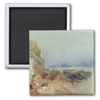 Andernach, 1817 (w/c with pen and black ink on wov 2 inch square magnet