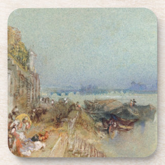 Andernach, 1817 (w/c with pen and black ink on wov beverage coaster