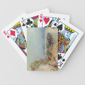 Andernach, 1817 (w/c with pen and black ink on wov bicycle playing cards