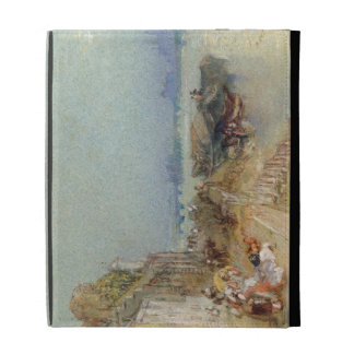 Andernach, 1817 (w/c with pen and black ink on wov iPad folio cover