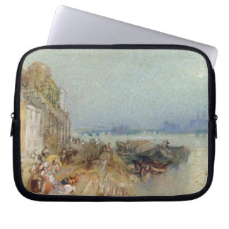 Andernach, 1817 (w/c with pen and black ink on wov laptop computer sleeve