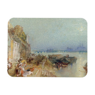 Andernach, 1817 (w/c with pen and black ink on wov rectangular photo magnet