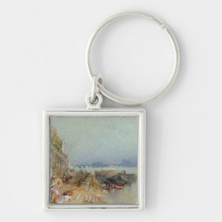 Andernach, 1817 (w/c with pen and black ink on wov Silver-Colored square keychain