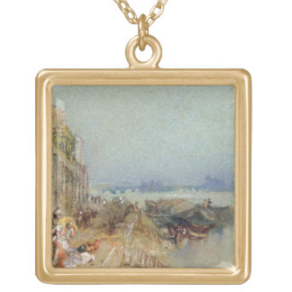 Andernach, 1817 (w/c with pen and black ink on wov square pendant necklace