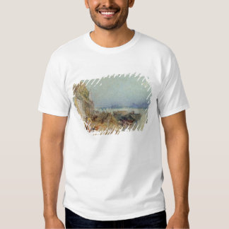 Andernach, 1817 (w/c with pen and black ink on wov t shirt